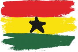 Ghana Flag hand made