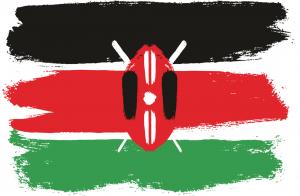 kenya flag hand made