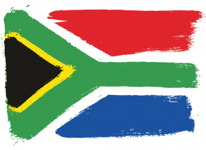 South Africa Flag hand made
