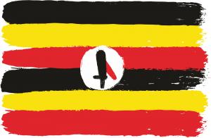 Uganda Flag hand made