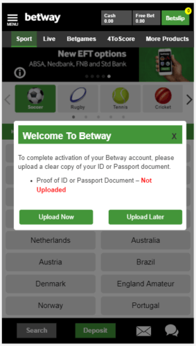 Betway ID Passport South Africa