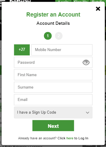 How to register Betway