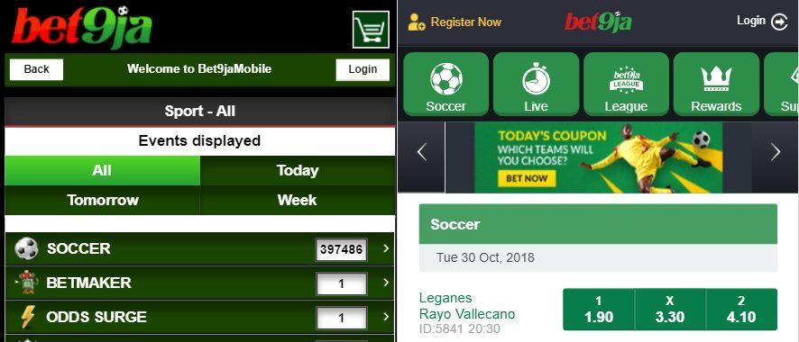 Bet9ja Old Mobile vs New Mobile Design | African Betting Guide