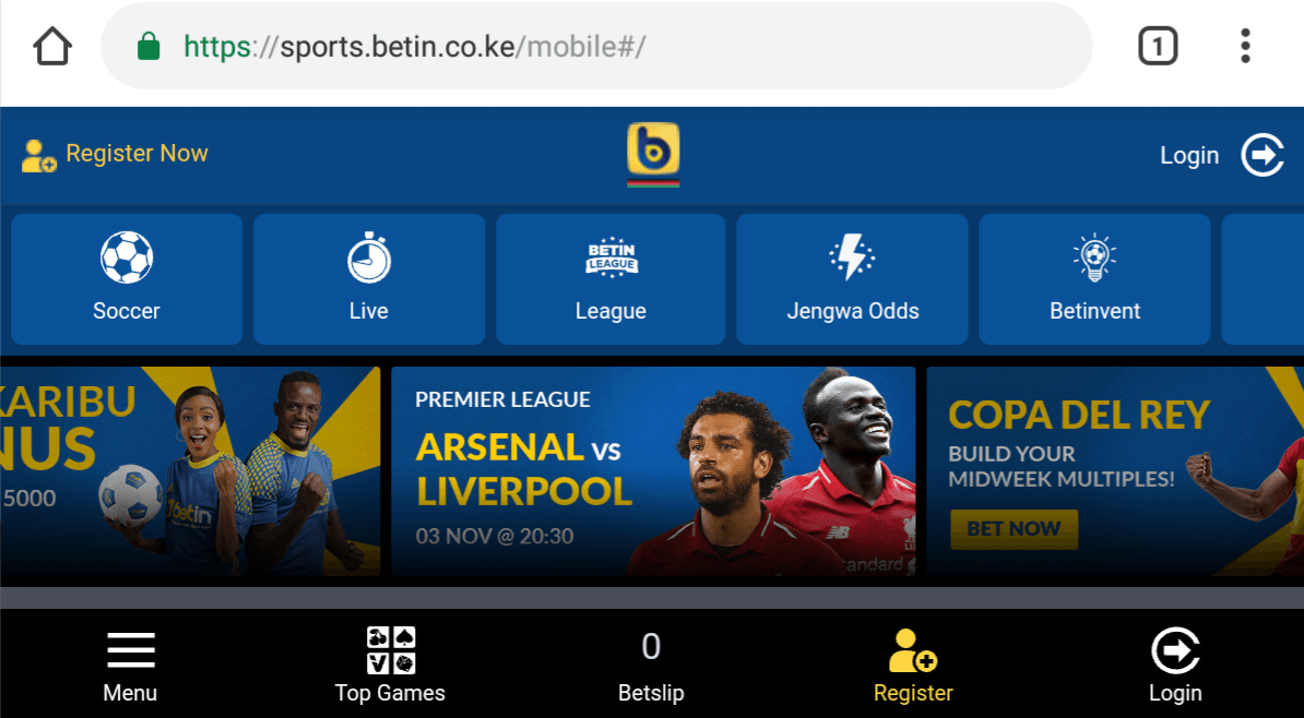 Betin Mobile Login