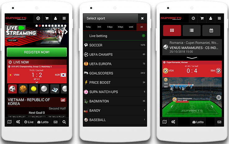 supabets mobile layout